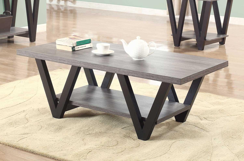 Coaster 705398 Coffee Table - Antique Grey/Black