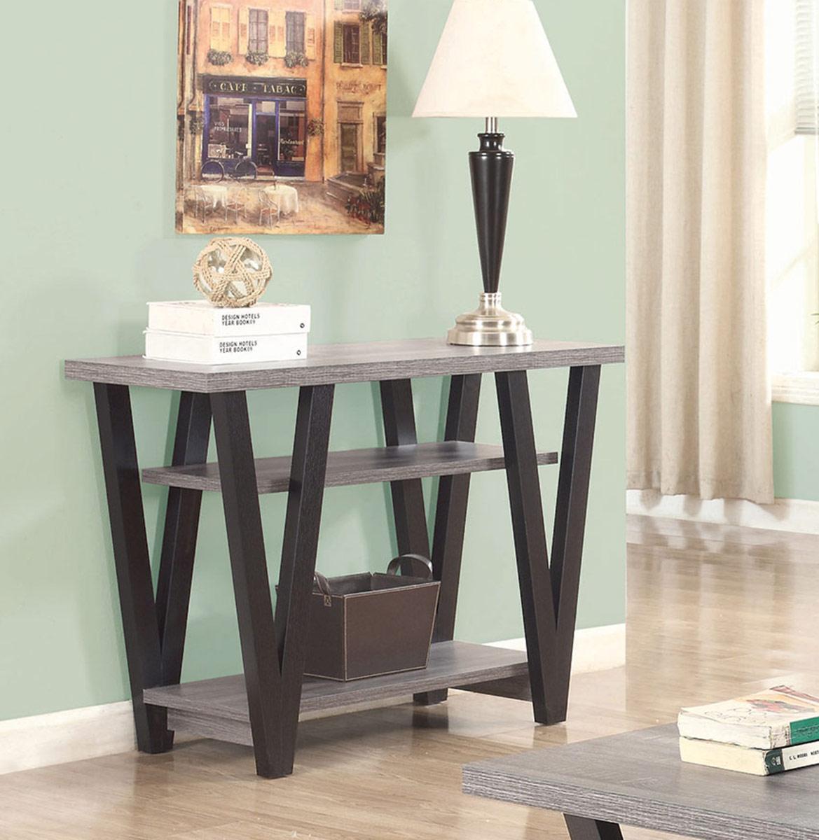 Coaster 705399 Sofa Table - Antique Grey/Black