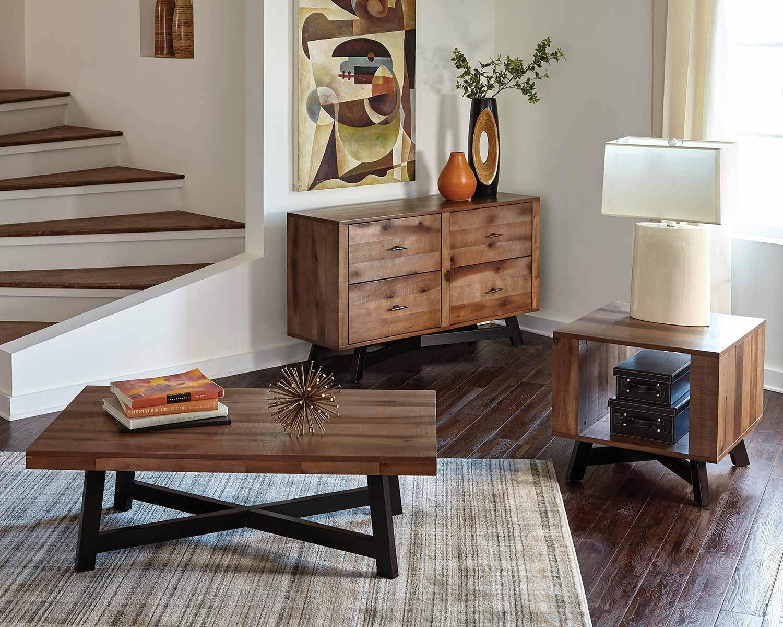 Coaster 705497 Coffee Table Set - Naomi Ash/Black Sand-off