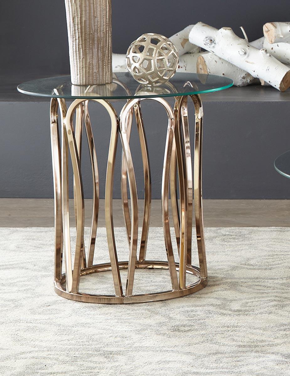 Coaster Hemet End Table - Light Grey