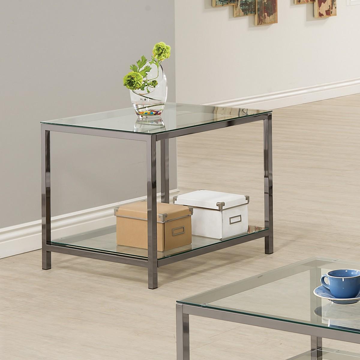 Coaster 720227 End Table - Black Nickel