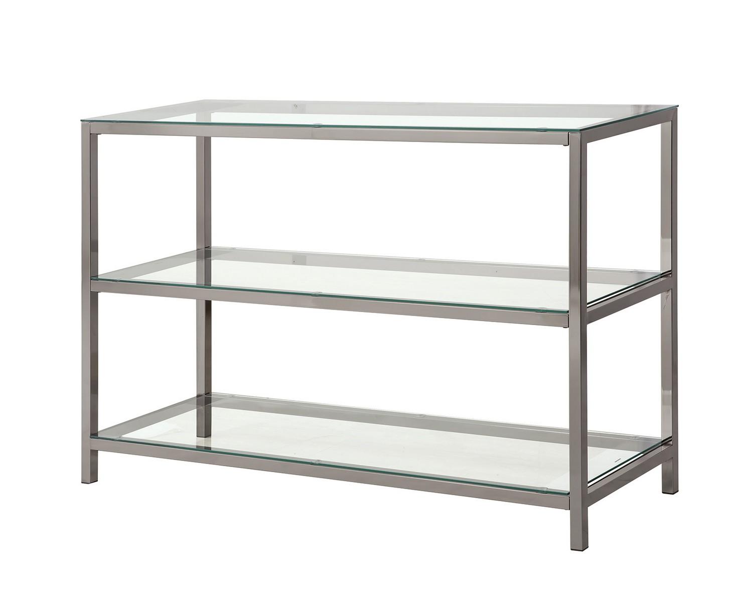 Coaster 720229 Sofa Table - Black Nickel