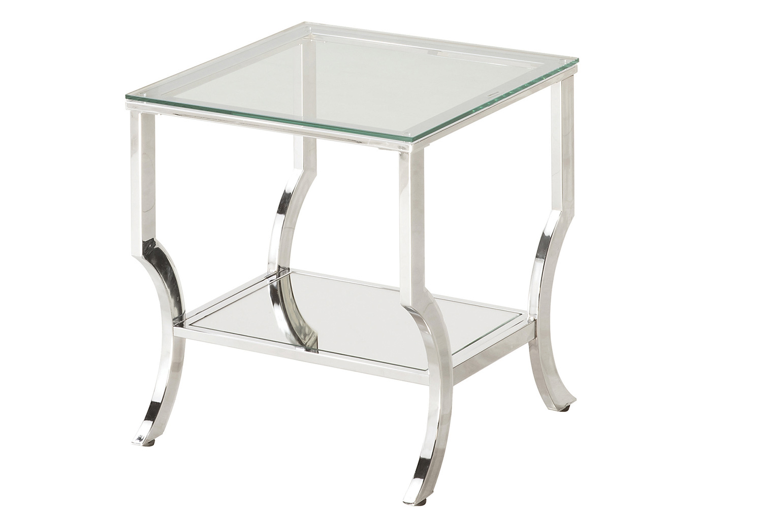 Coaster 720338 End Table - Chrome / Tempered Glass