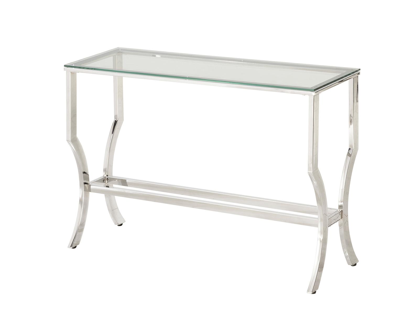 Coaster 720338 Sofa Table - Chrome / Tempered Glass