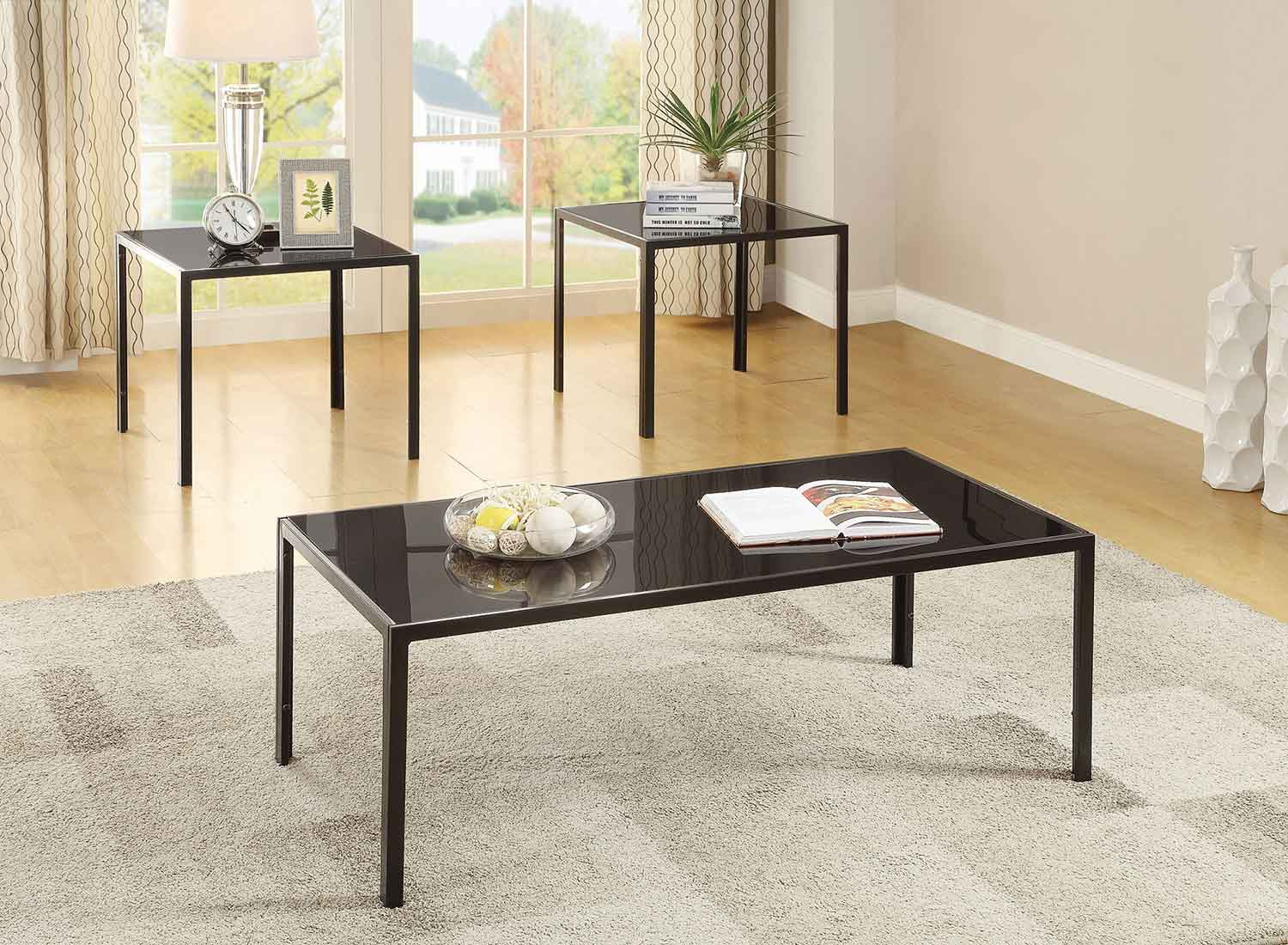 Coaster 720457 Occasional/Coffee Table Set - Antique Pewter