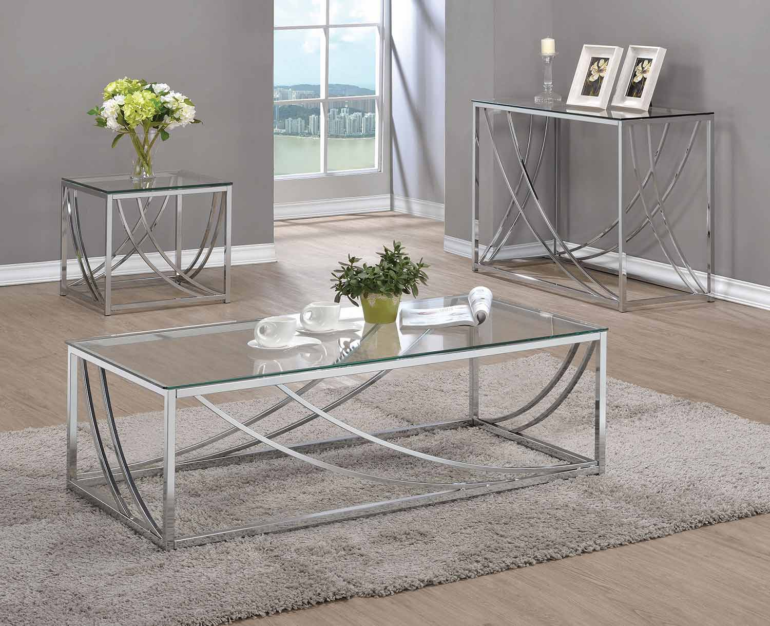 Coaster 720498 Occasional/Coffee Table Set - Chrome