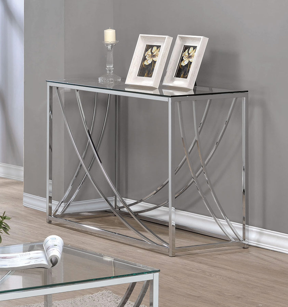 Coaster 720498 Coffee Table - Chrome