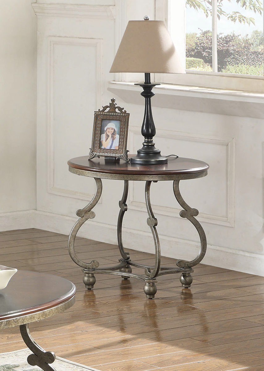 Coaster 720548 Occasional Coffee Table Set Cherry Brown