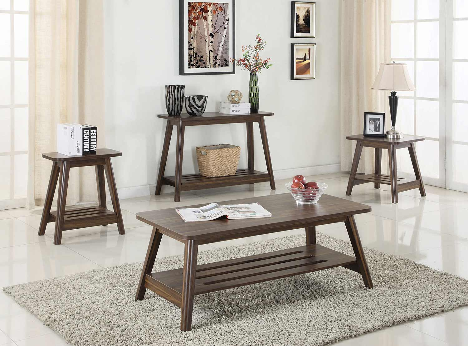 Coaster 720558 occasionalcoffee table set chestnut 720558 coaster 720558 occasionalcoffee table set chestnut geotapseo Image collections