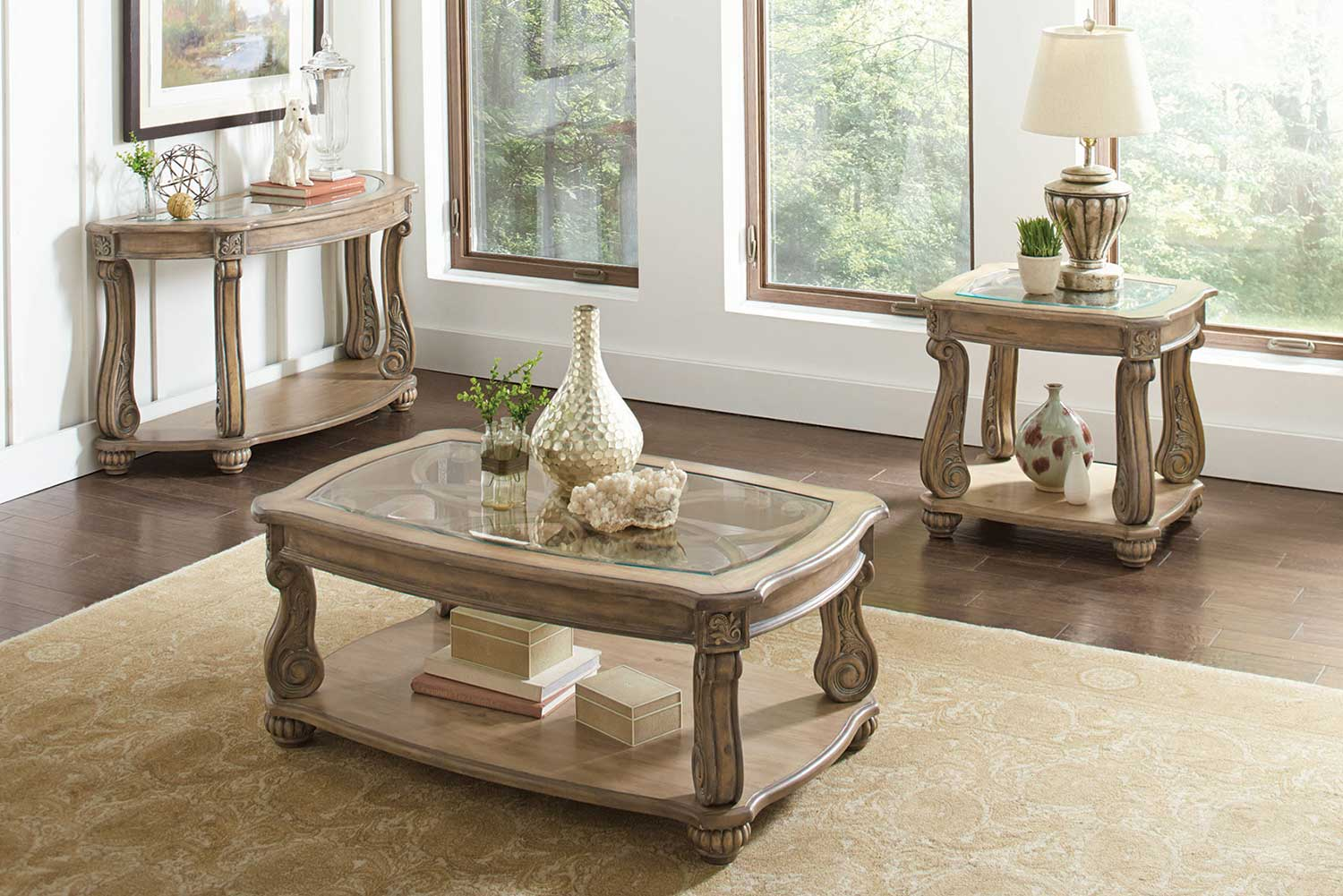 Coaster 720598 Occasional/Coffee Table Set - Antique Linen : coaster coffee table set - pezcame.com
