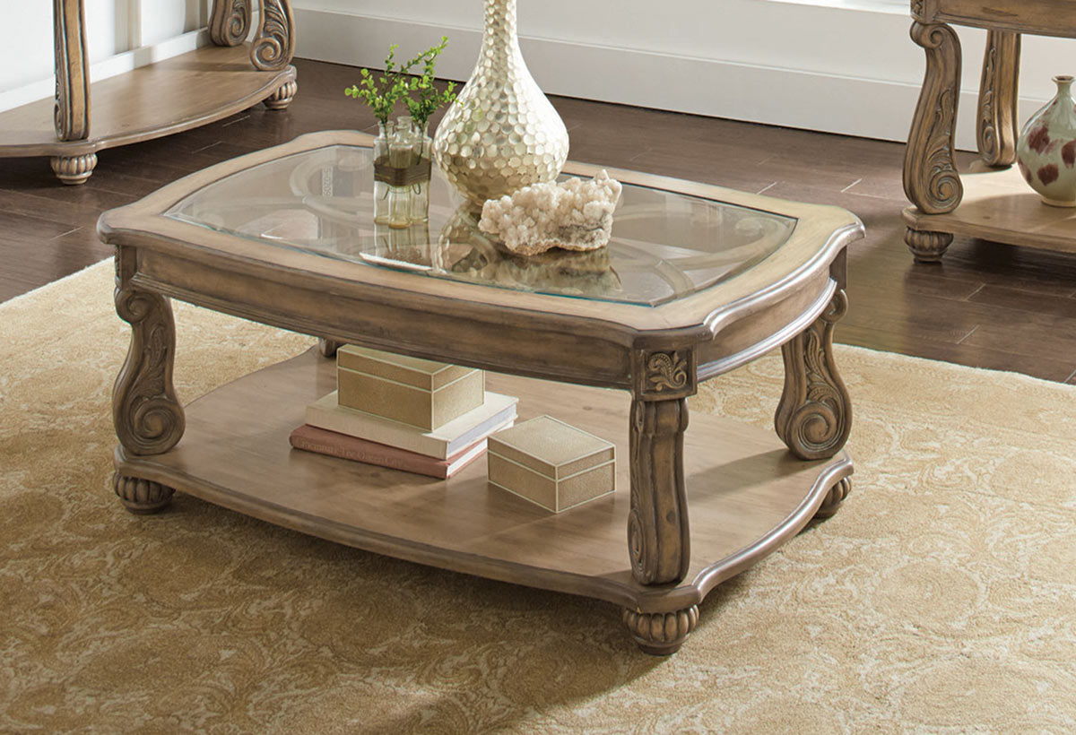 Coaster 720598 Coffee Table Antique Linen 720598 At