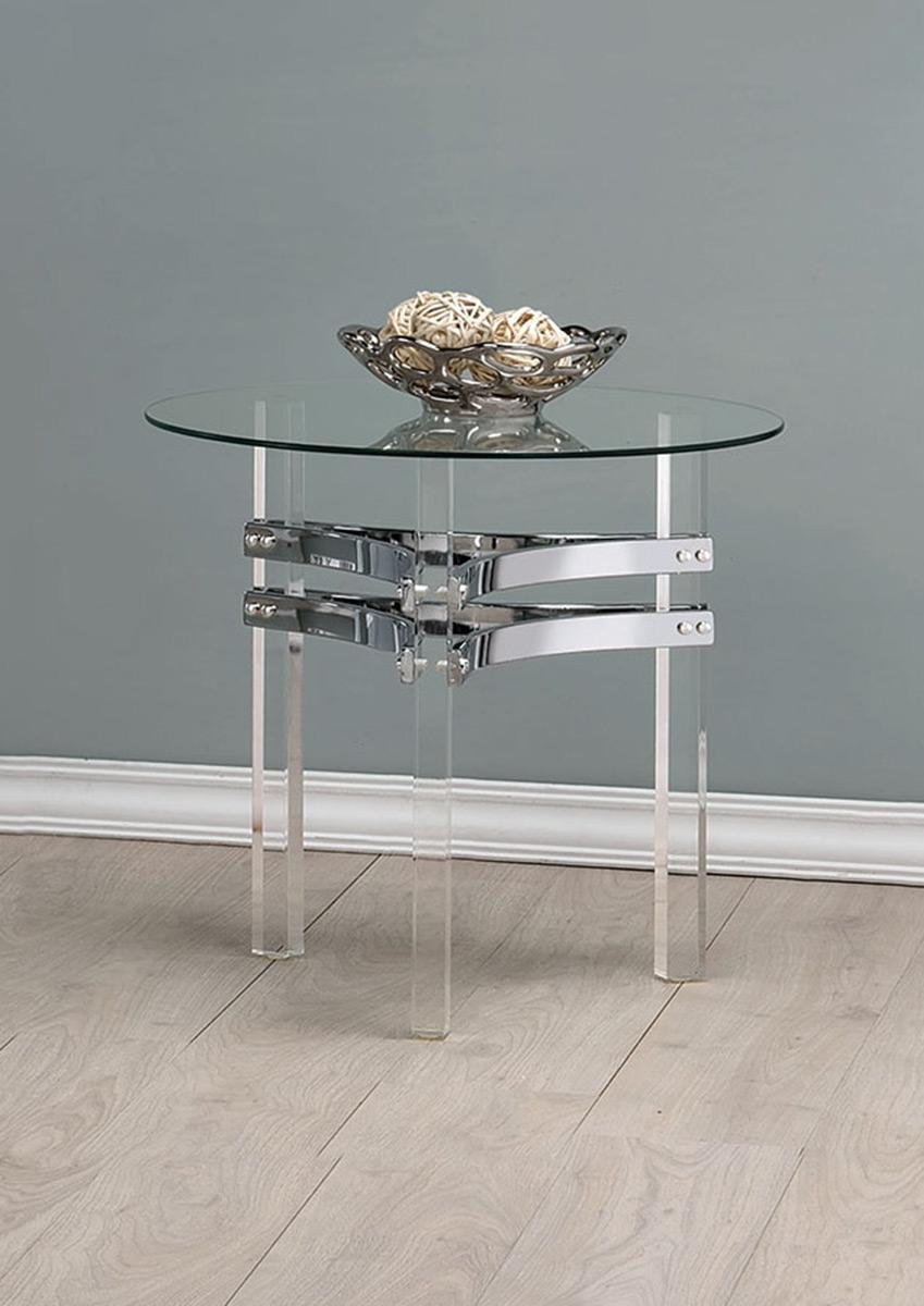 Coaster 720707 End Table - Chrome/Clear Acrylic