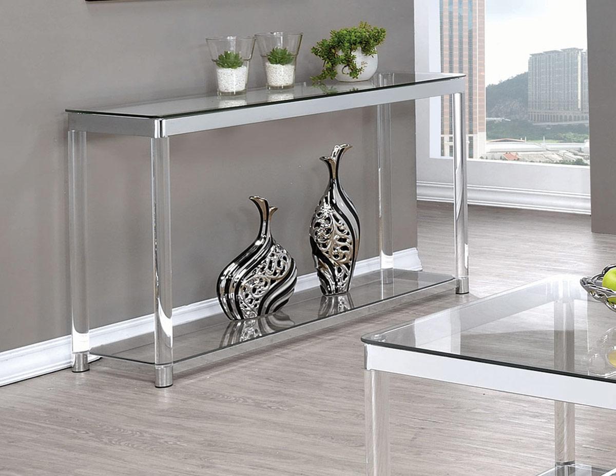 Coaster 720748 Coffee Table - Chrome/Clear Acrylic