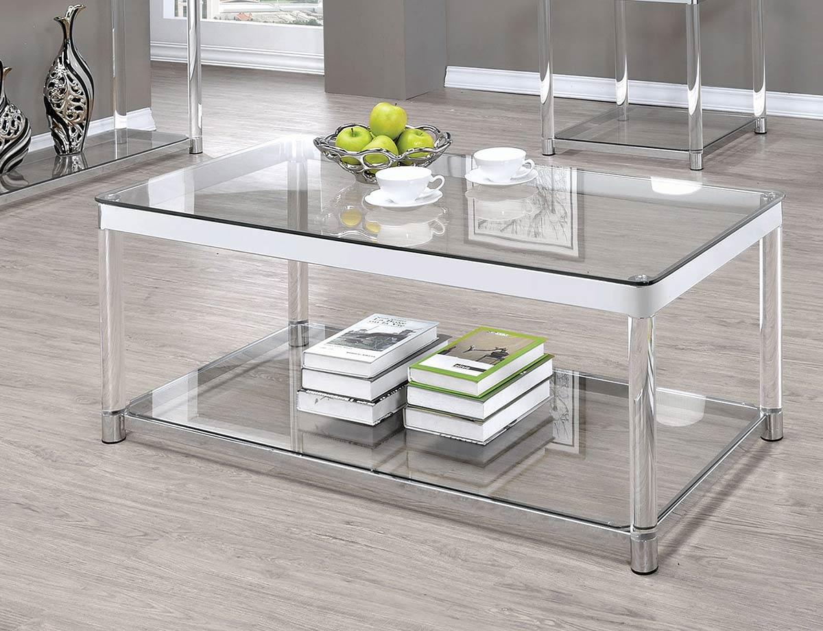 Coaster 720749 Sofa Table - Chrome/Clear Acrylic