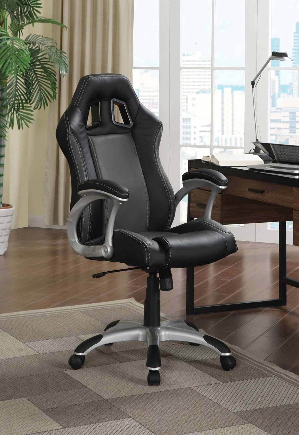 Marvelous Coaster 800046 Office Chair   Black
