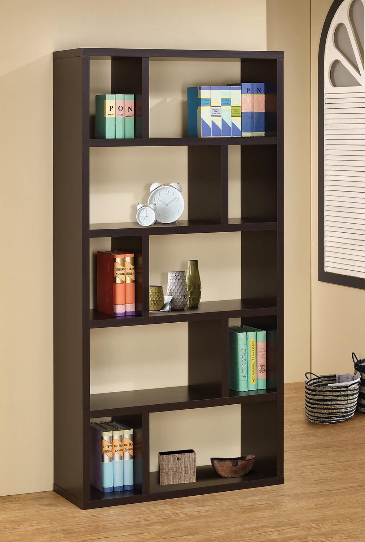 Coaster 800296 Bookcase - Cappuccino