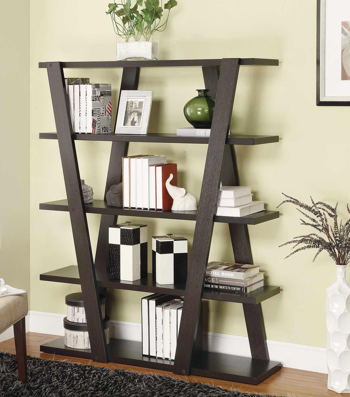 Coaster 800318 Bookcase - Cappuccino