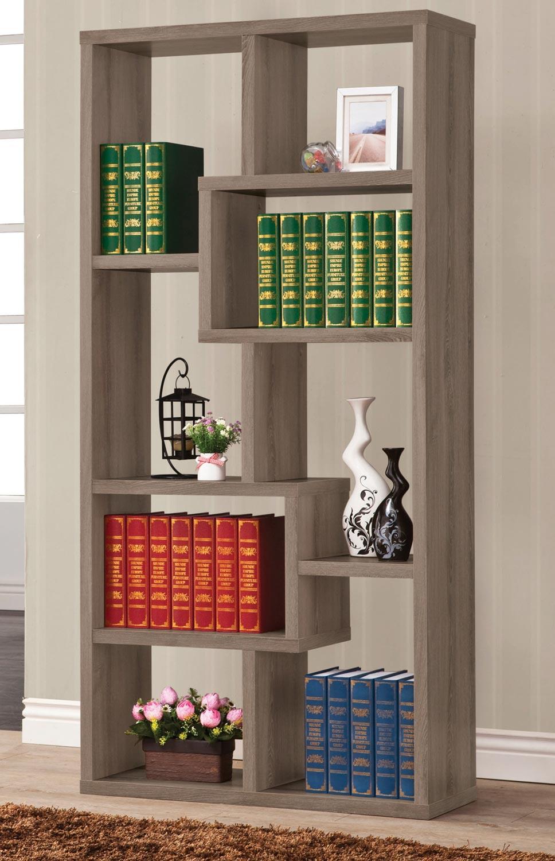 Coaster 800510 Bookcase - Weathered Grey