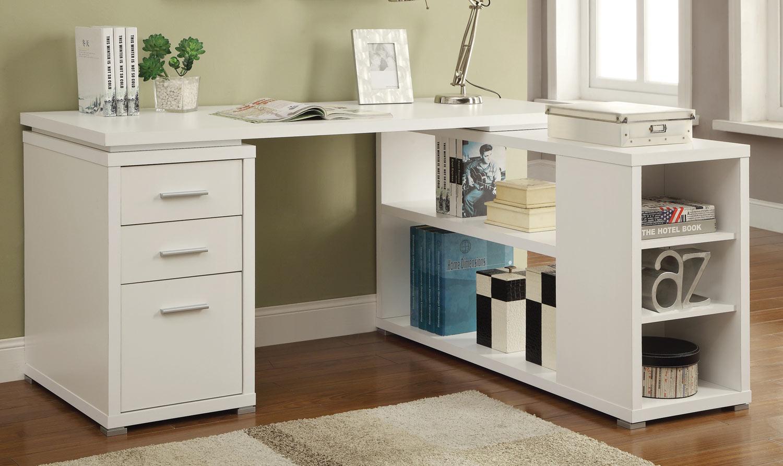 Coaster Yvette Office Desk White 800516 At Homelement Com