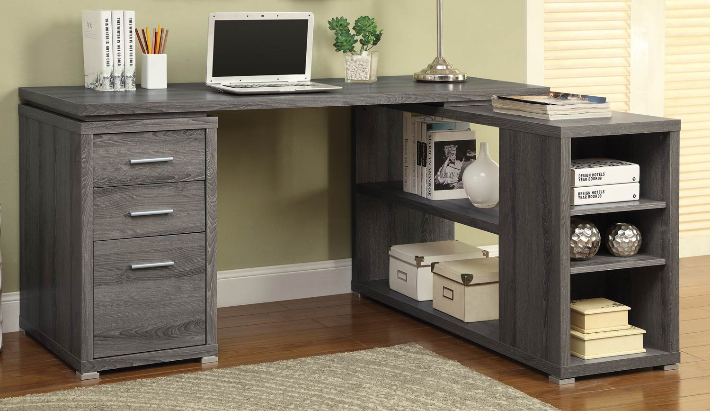 Coaster Yvette Office Desk Weathered Grey