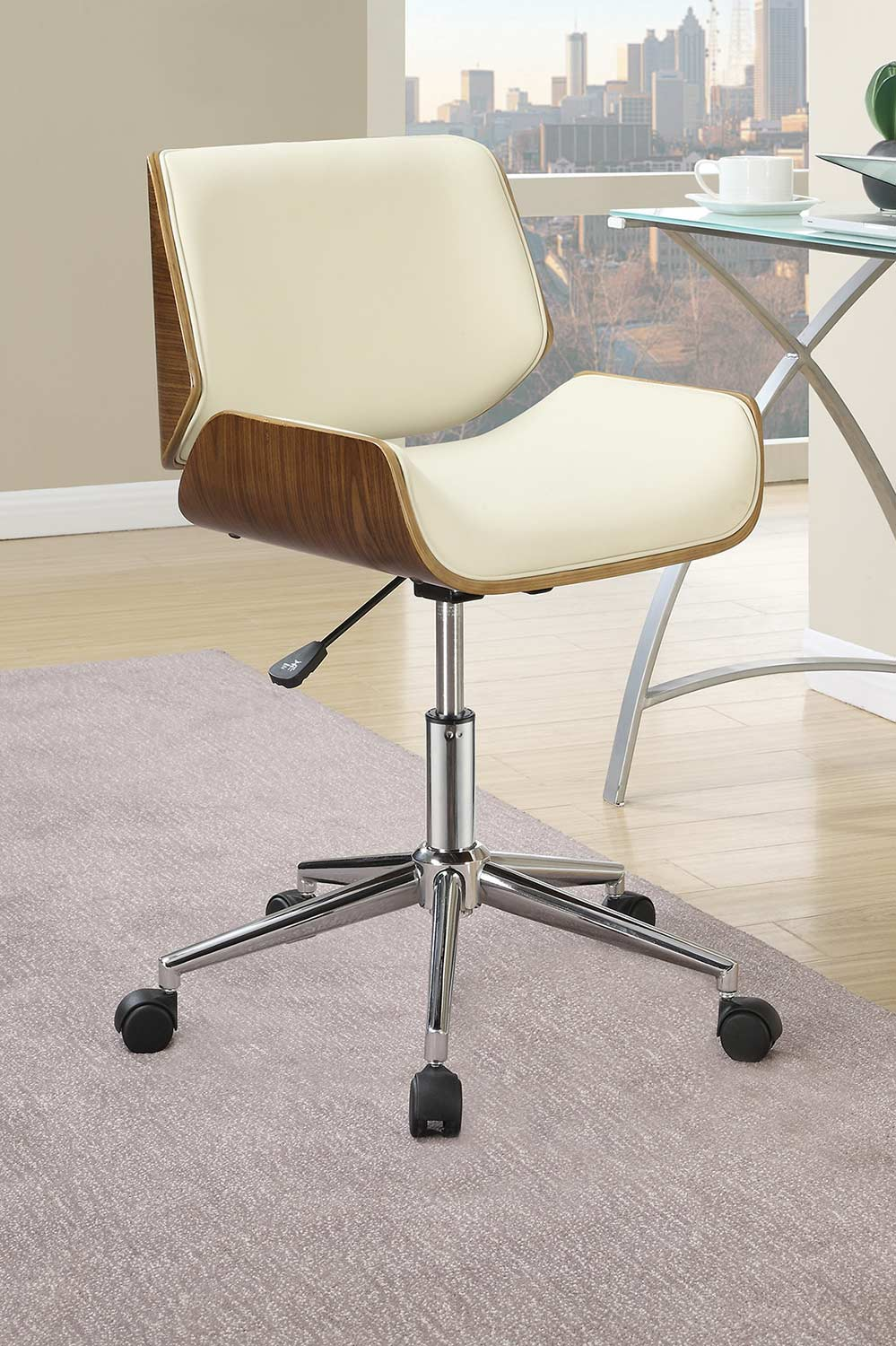 Coaster 800613 Office Chair - Ecru Leatherette