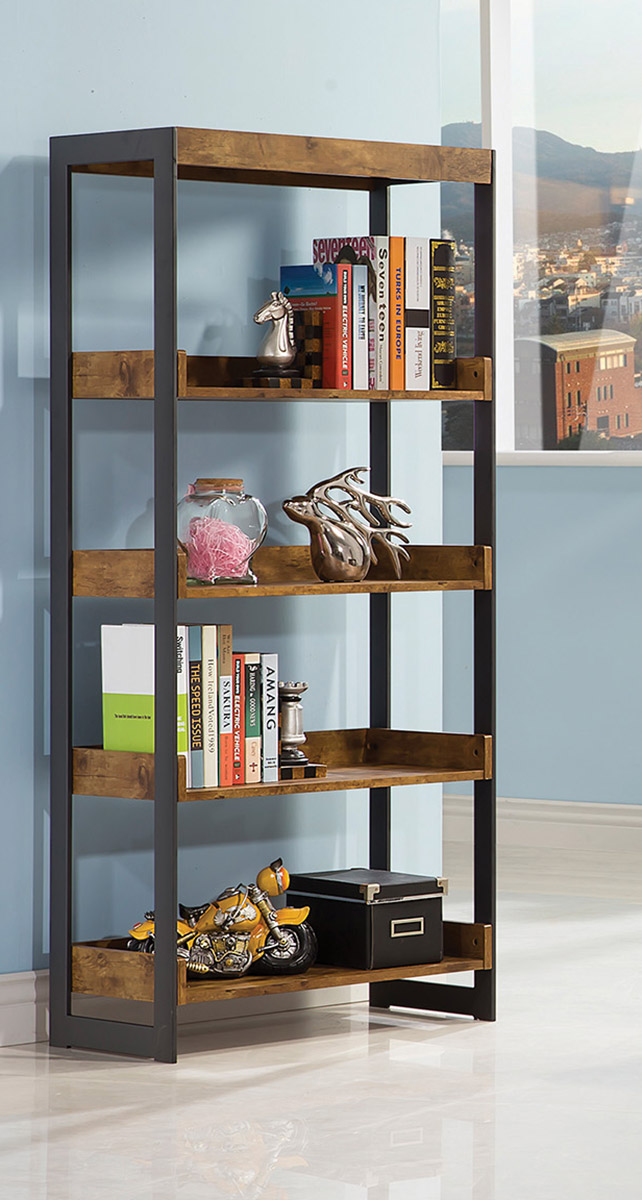 Coaster Estrella Bookcase - Antique Nutmeg
