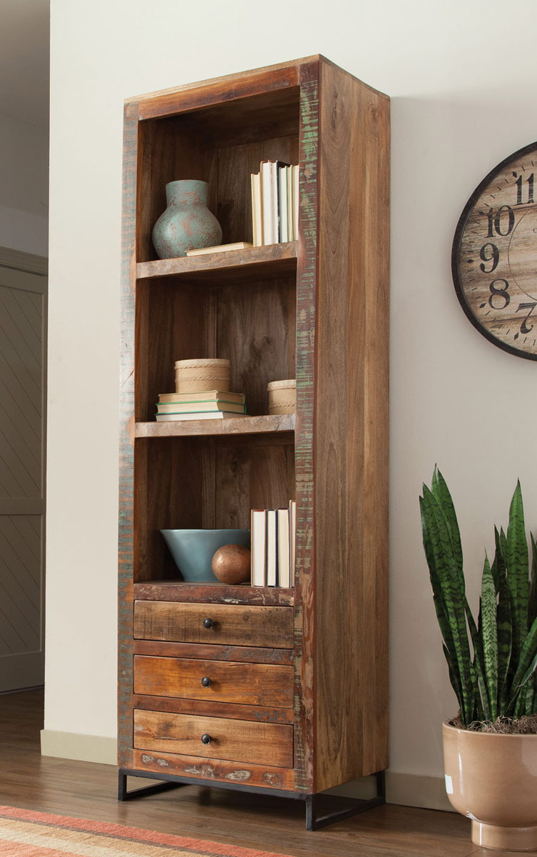 Coaster 800819 Bookcase - Reclaimed Wood