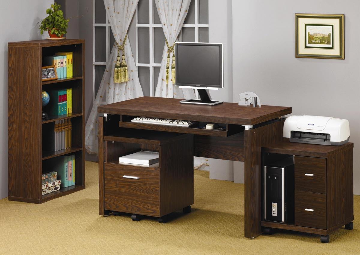 Coaster 2 Drawer Computer Stand