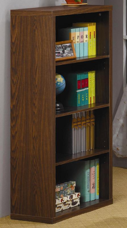 coaster four shelf bookcase in oak modern office desk