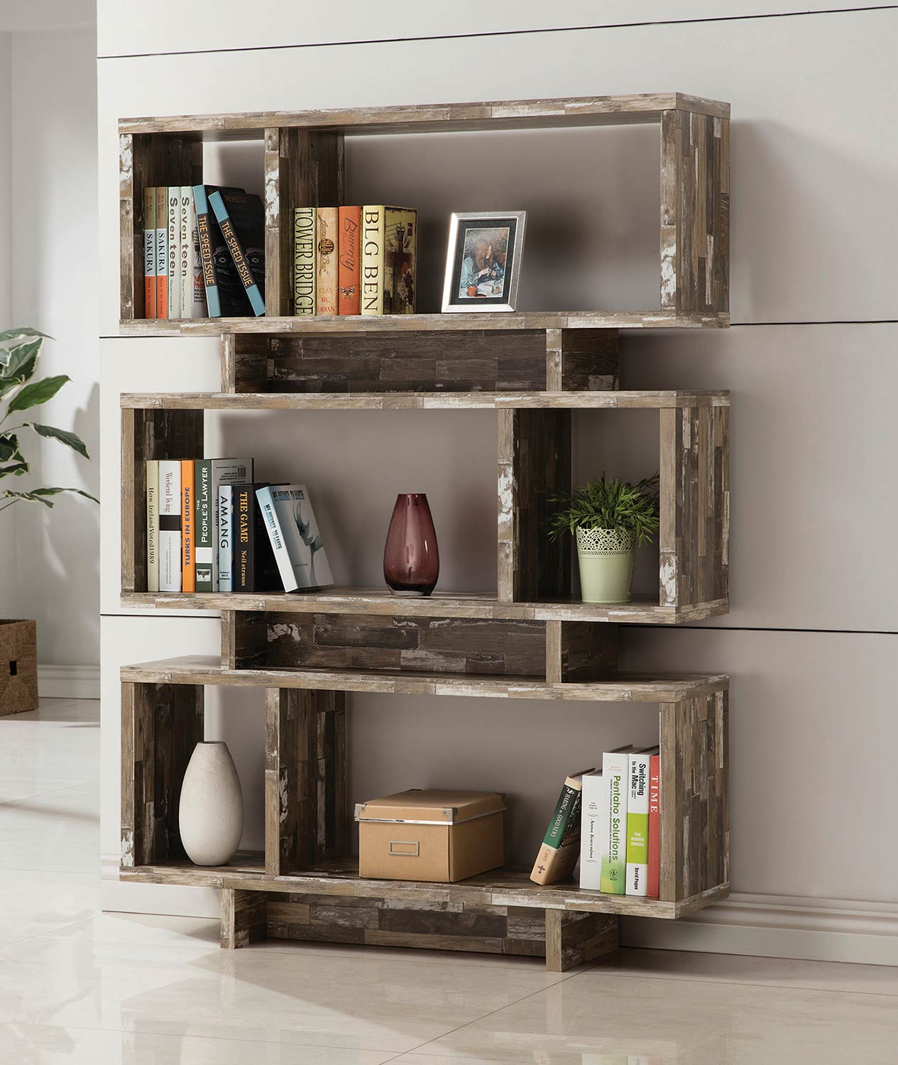 Coaster 800846 Bookcase - Salvaged Cabin