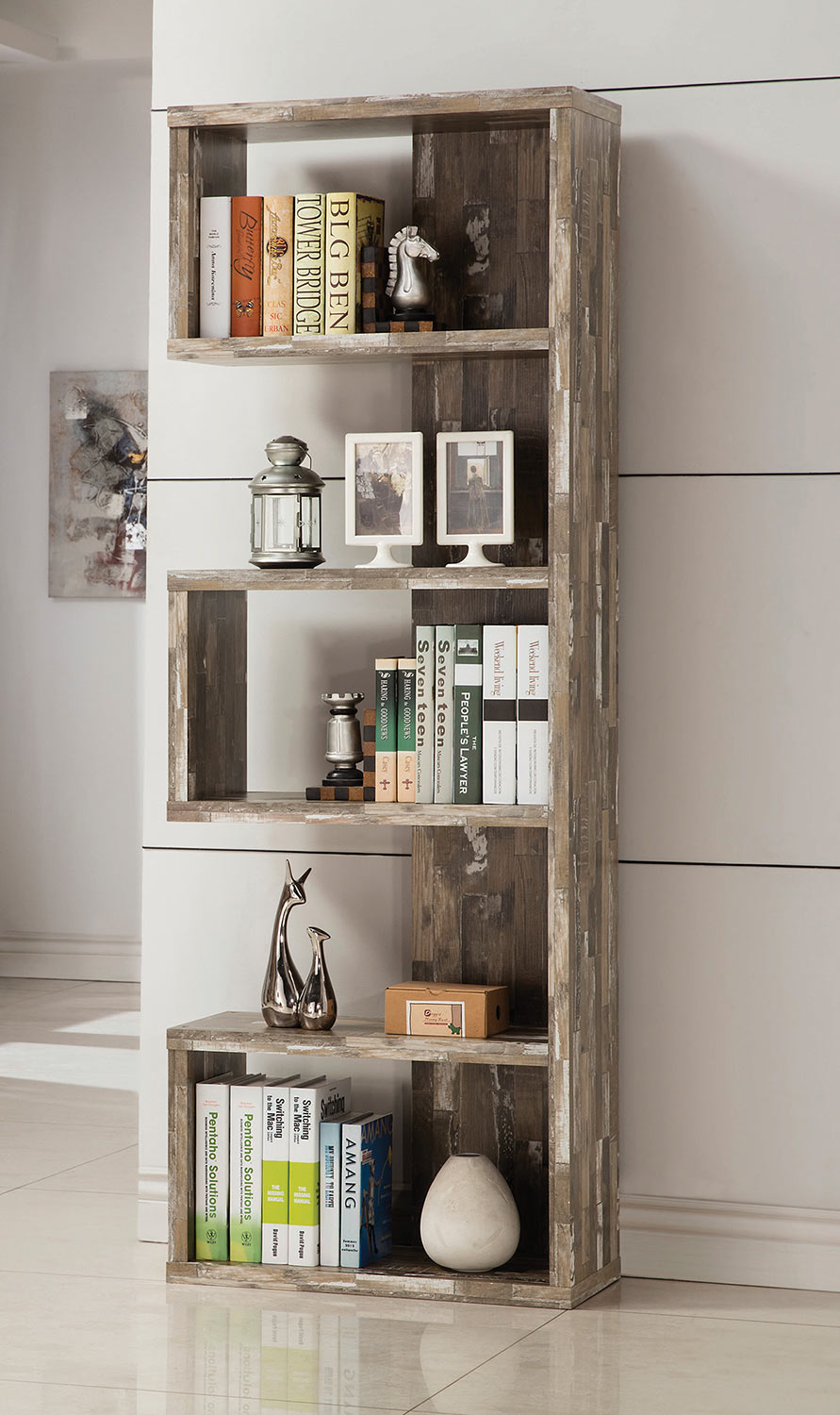 Coaster 800847 Bookcase - Salvaged Cabin