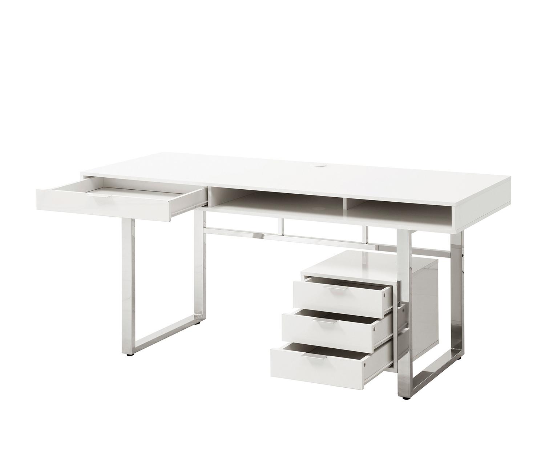 Coaster 800897 Writing Desk - Glossy White