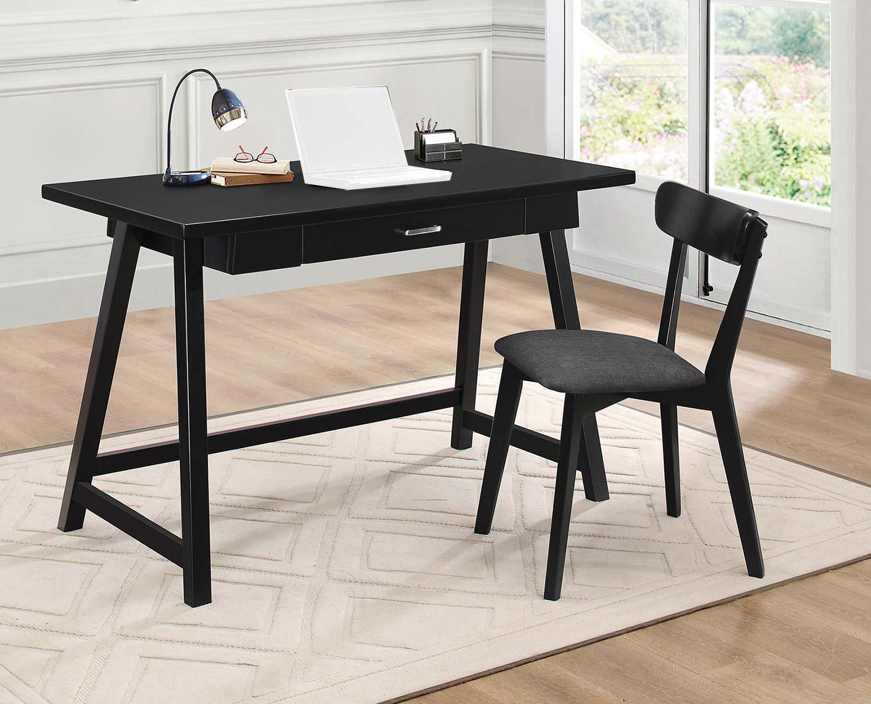 Coaster 800899 2-PC Desk Set - Black