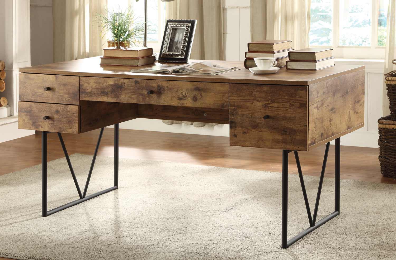 Coaster 800999 Desk Antique Nutmeg Black 800999 At