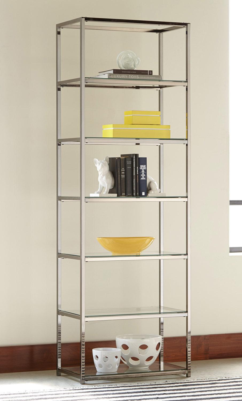 Coaster 801017 Bookcase - Black nickel