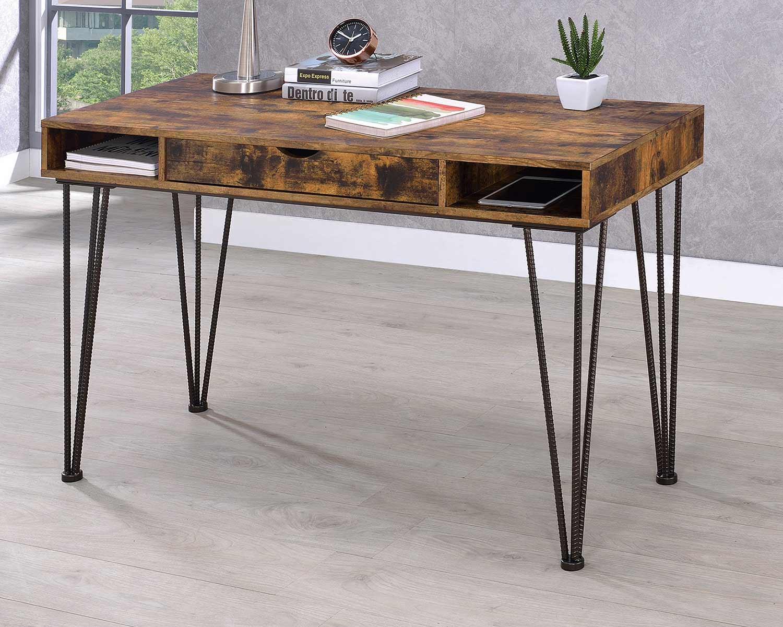 Coaster 801038 Writing Desk - Antique Nutmeg