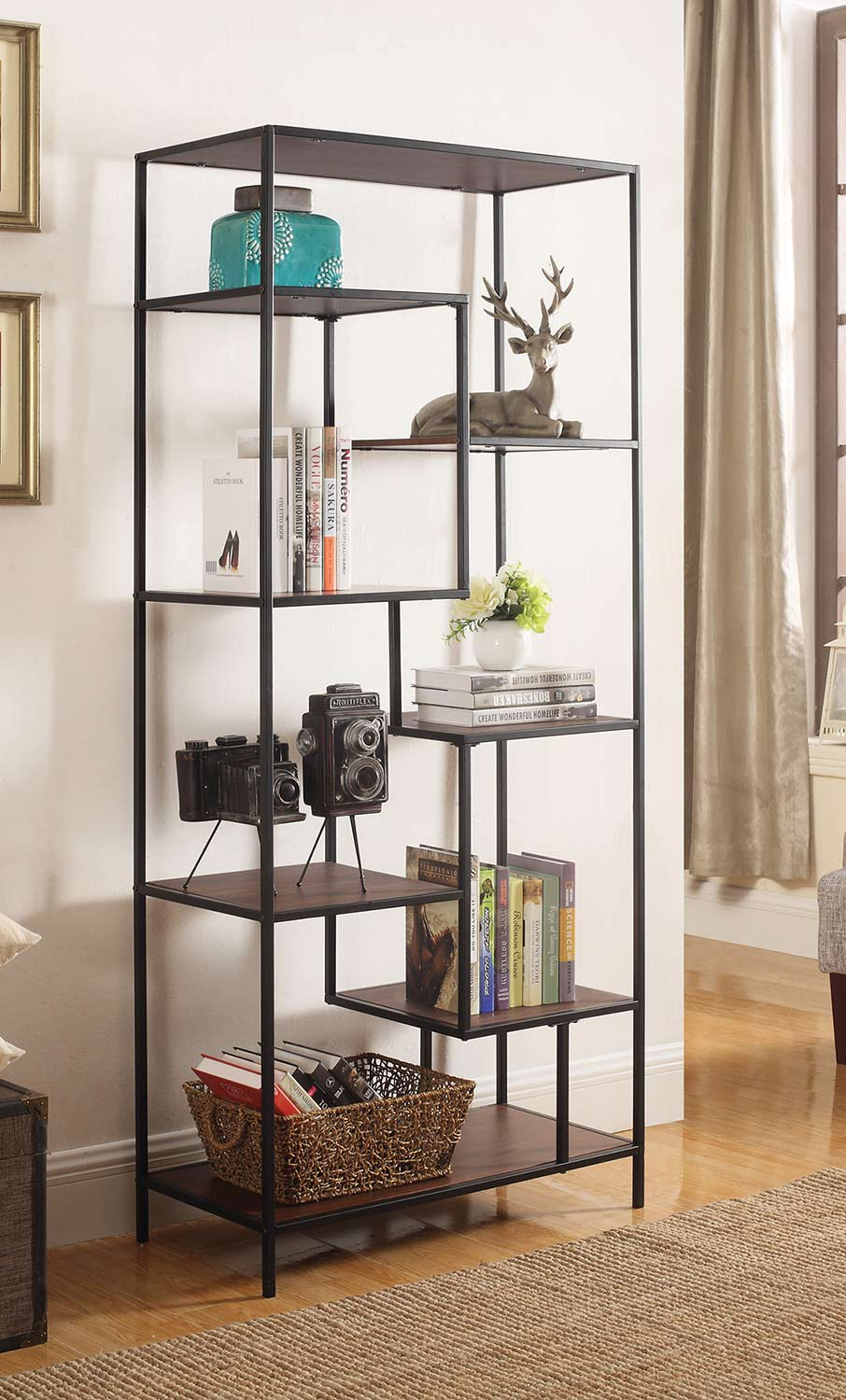Coaster 801134 Bookcase - Walnut