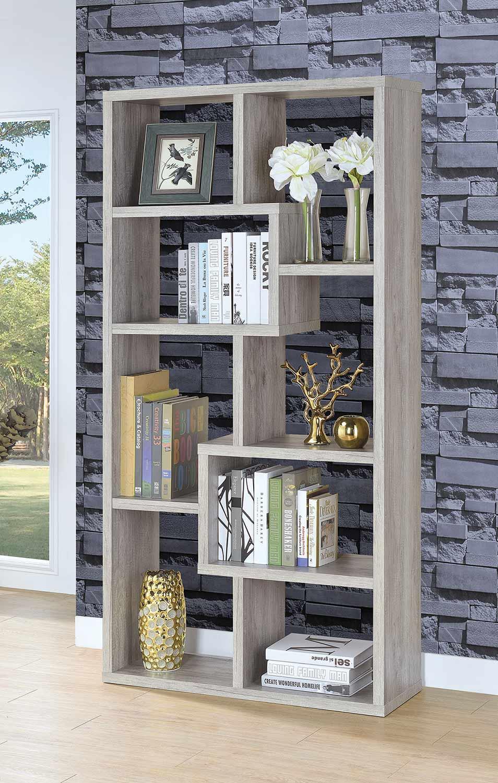 Coaster 801137 Bookcase - Grey Driftwood