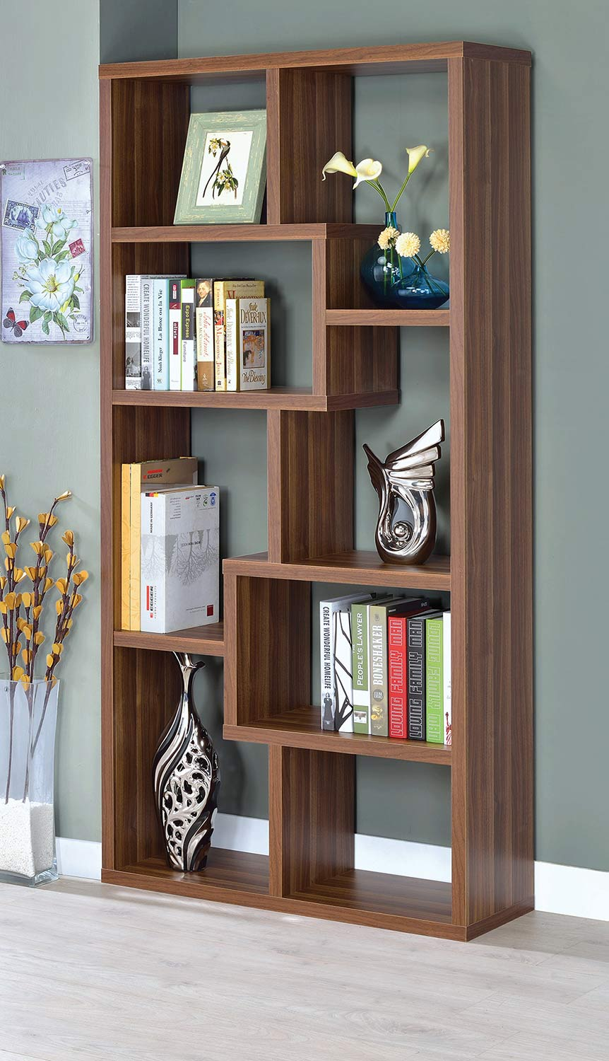 Coaster 801138 Bookcase - Walnut