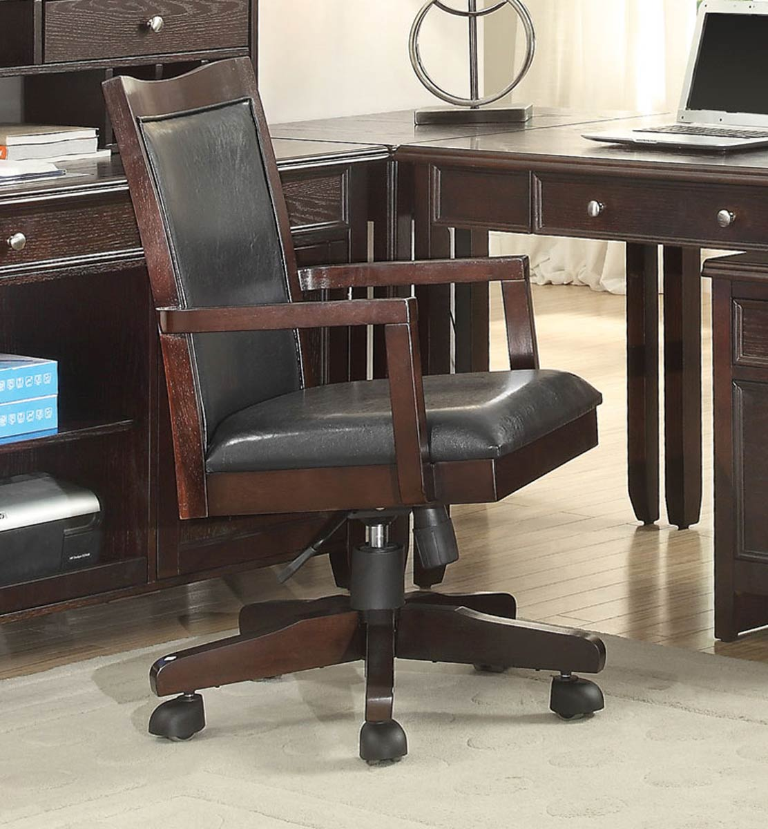Coaster Maclay Home Office Collection Dark Brown Silver