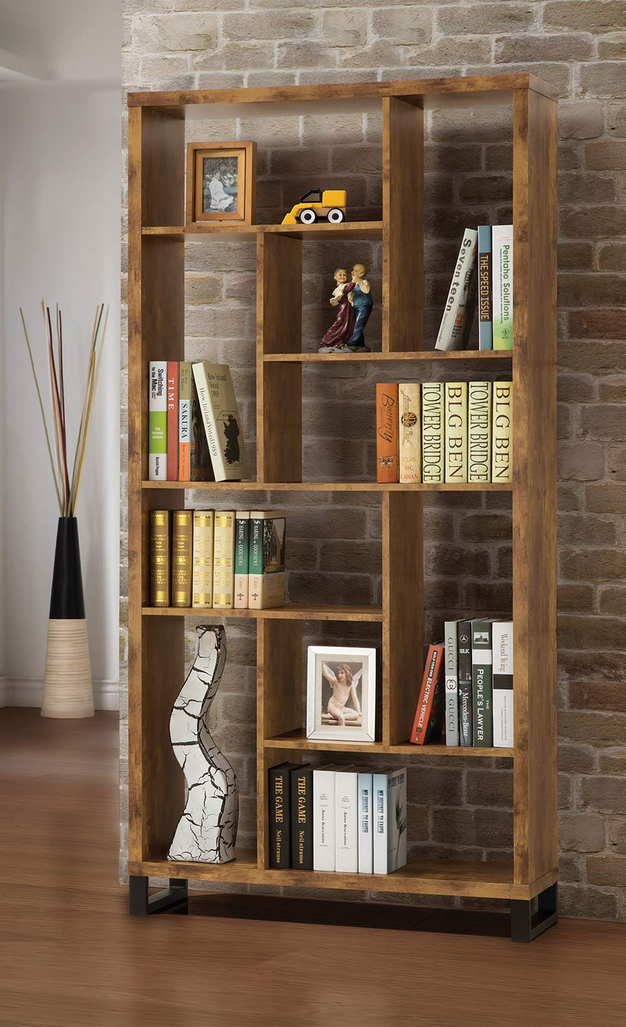 Coaster 801236 Bookcase - Antique Nutmeg