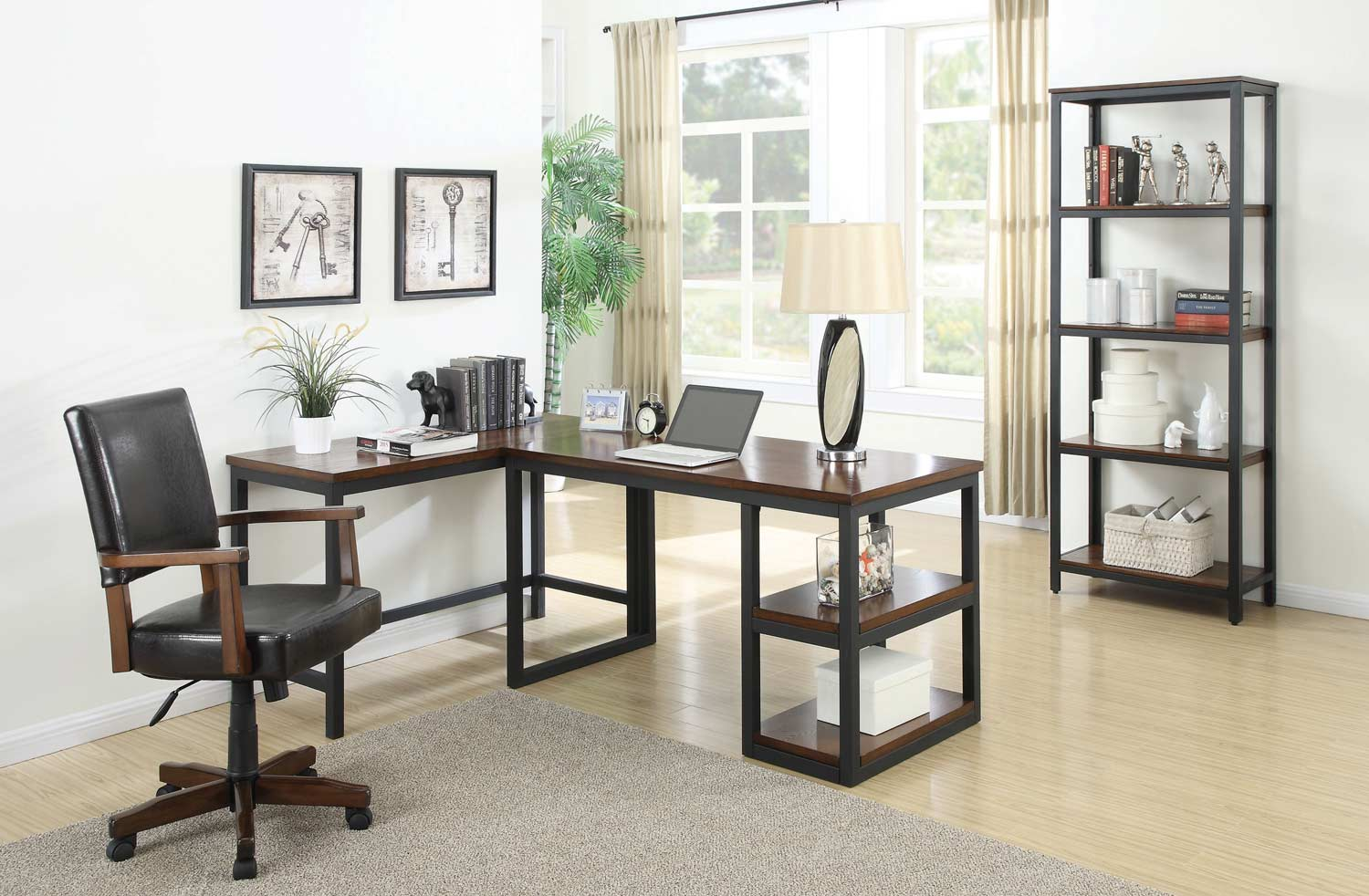 Coaster Marple Home Office Collection Brown Black 801242