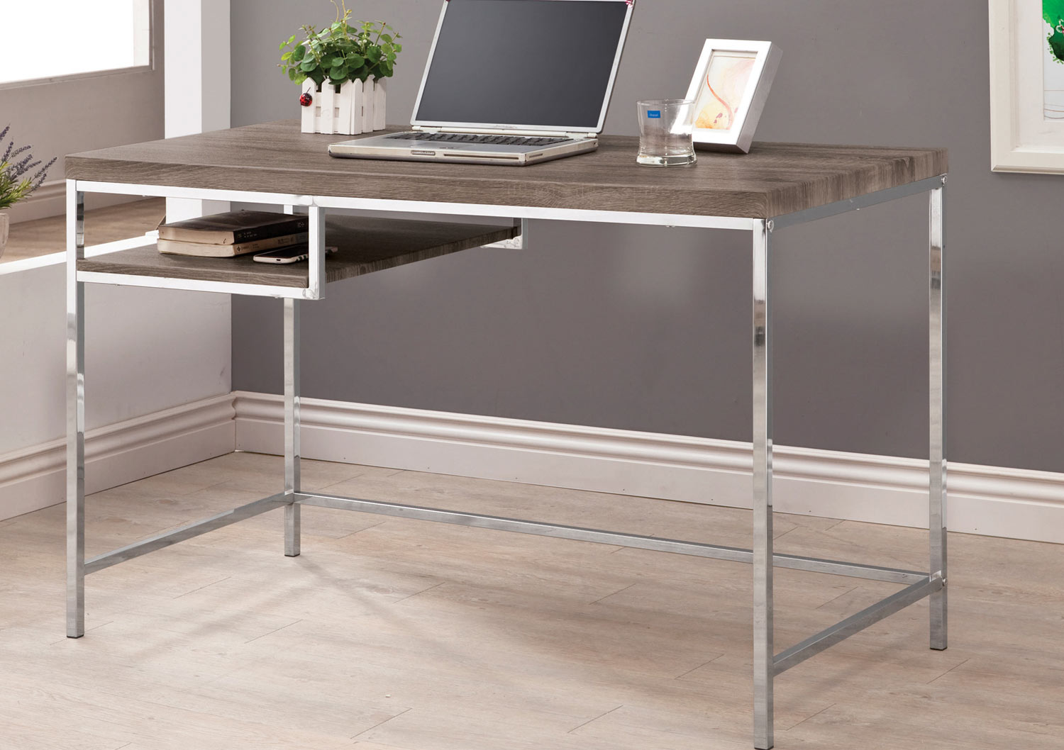 Coaster 801271 Computer Desk - Weathered Grey