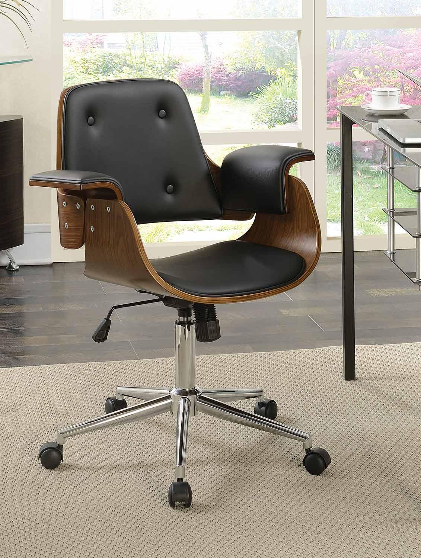 Coaster 801427 Office Chair - Black/Walnut