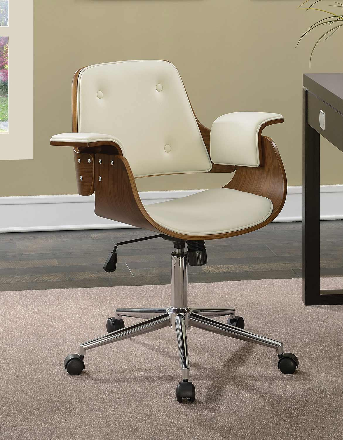 Coaster 801428 Office Chair - Ecru Leatherette