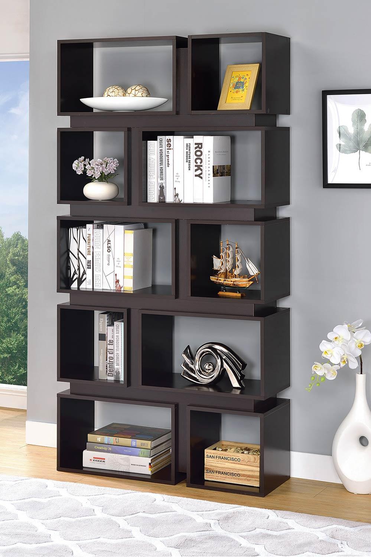 Coaster 801449 Bookcase - Cappuccino