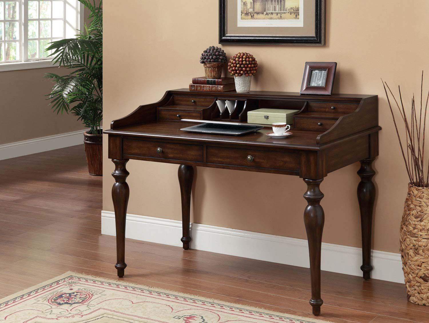 Service Writer Desk ~ Coaster writing desk brown small
