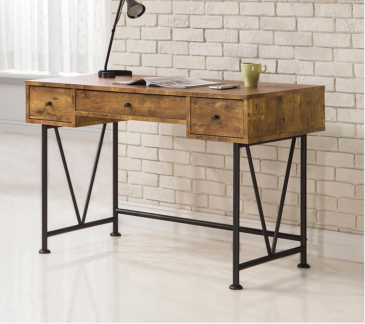 Coaster Barritt Writing Desk - Antique Nutmeg
