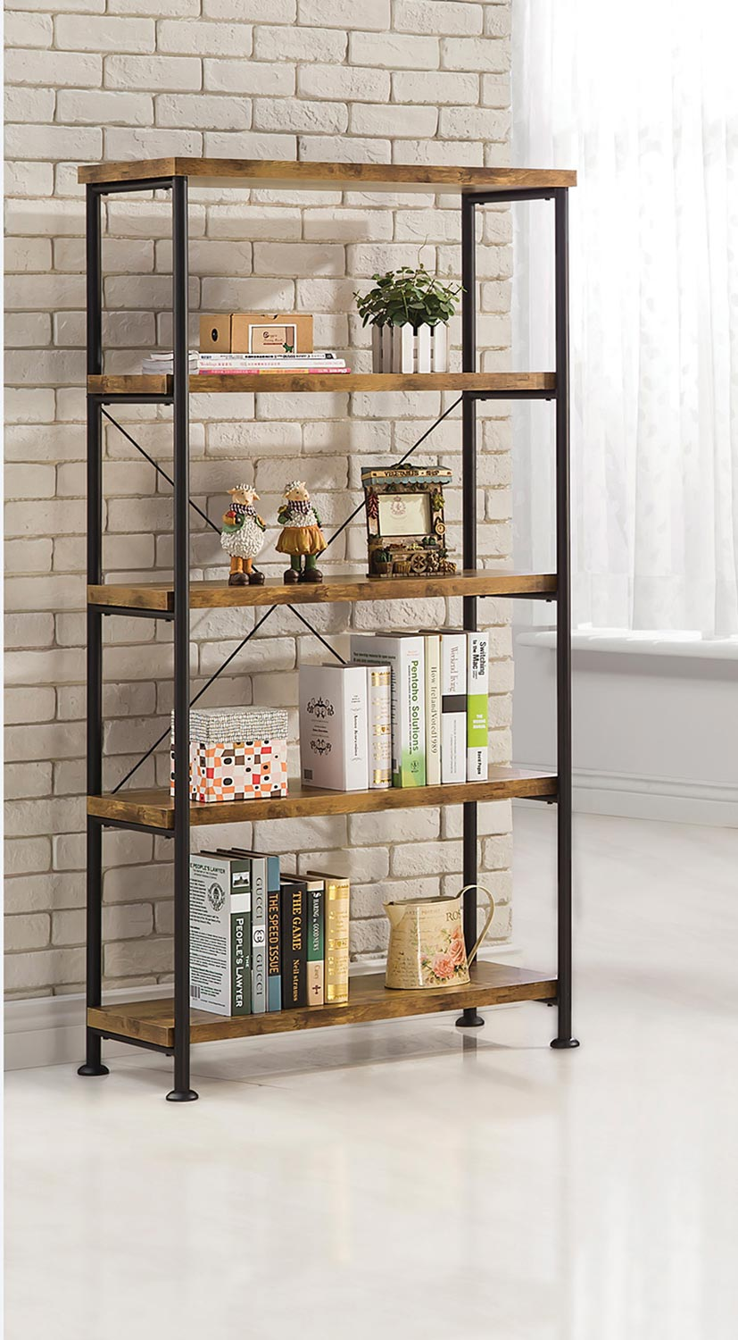 Coaster Barritt Bookcase - Antique Nutmeg