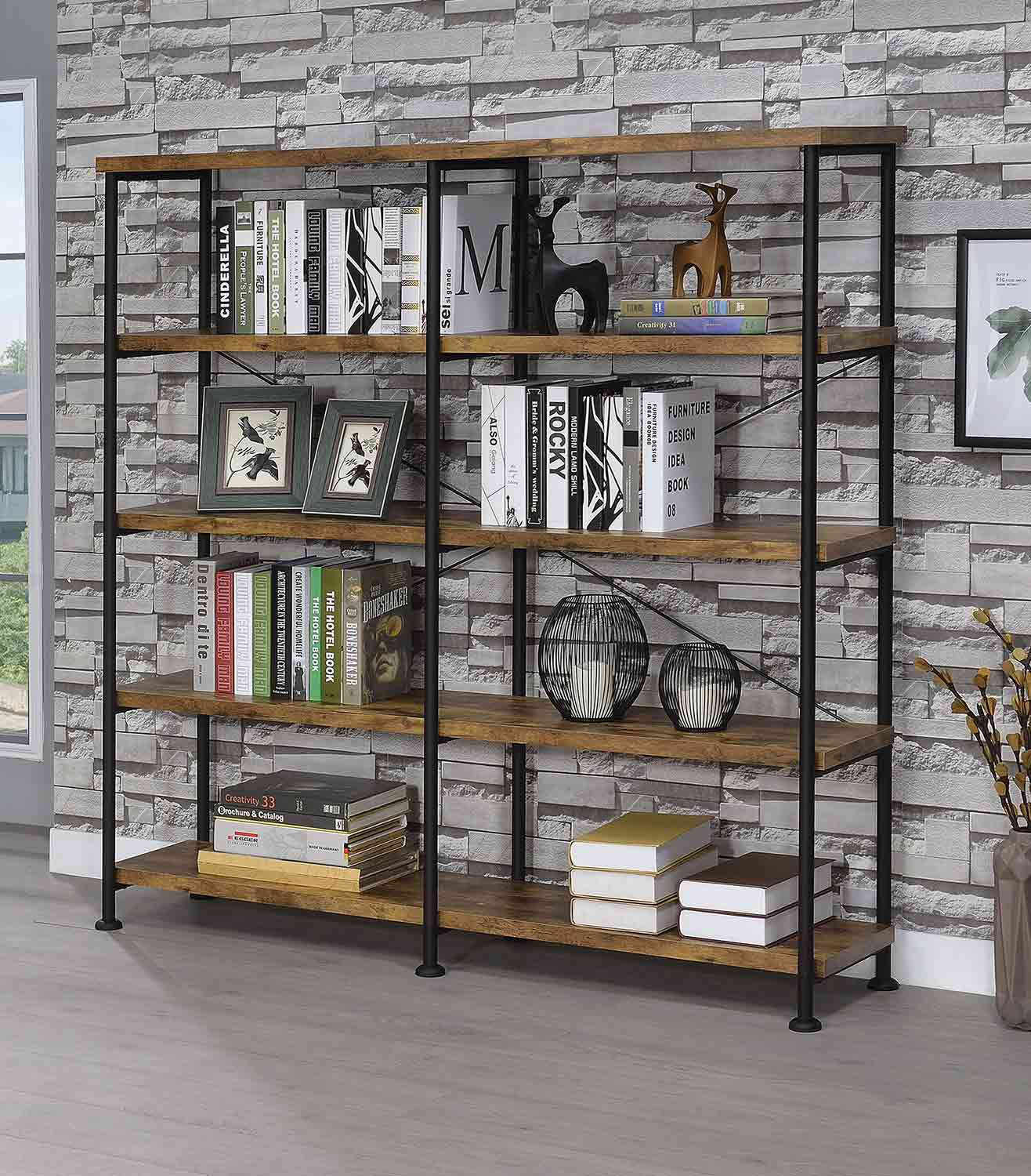 Coaster 801543 Bookcase - Antique Nutmeg